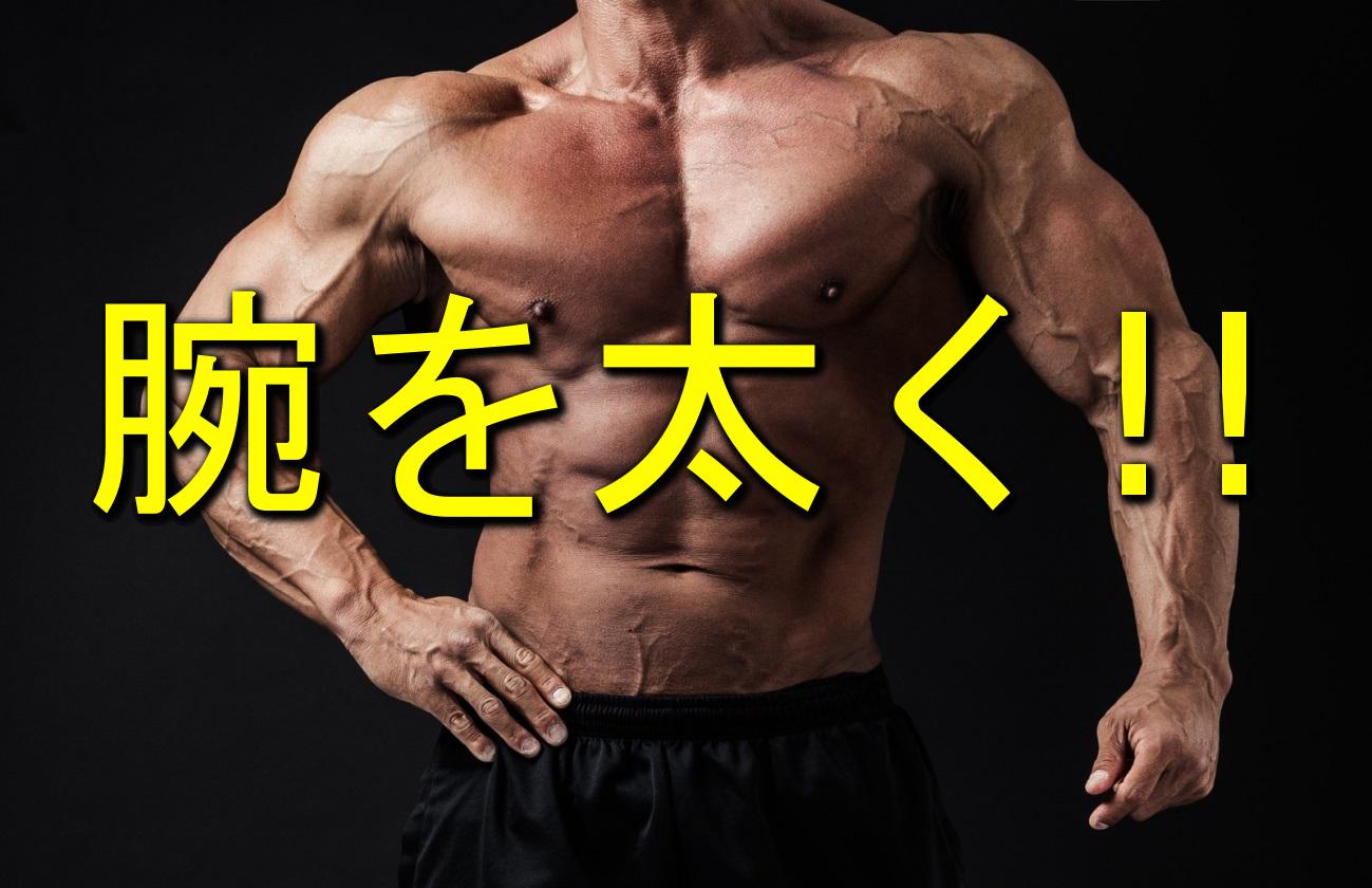 腕を太くする筋トレ方法、太くならない理由はこれだった